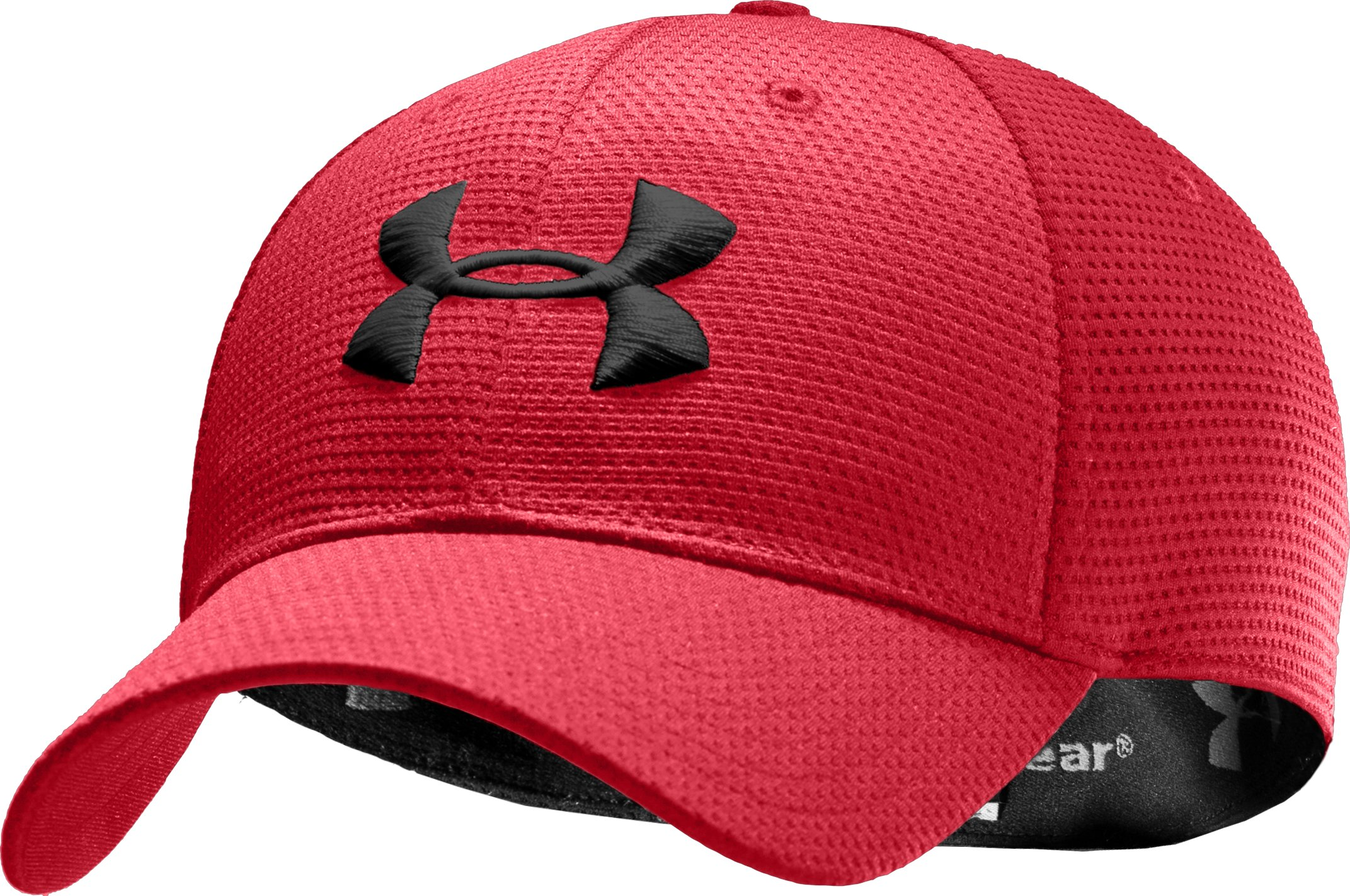 Men's UA Blitzing Stretch Fit Cap, Red, zoomed image