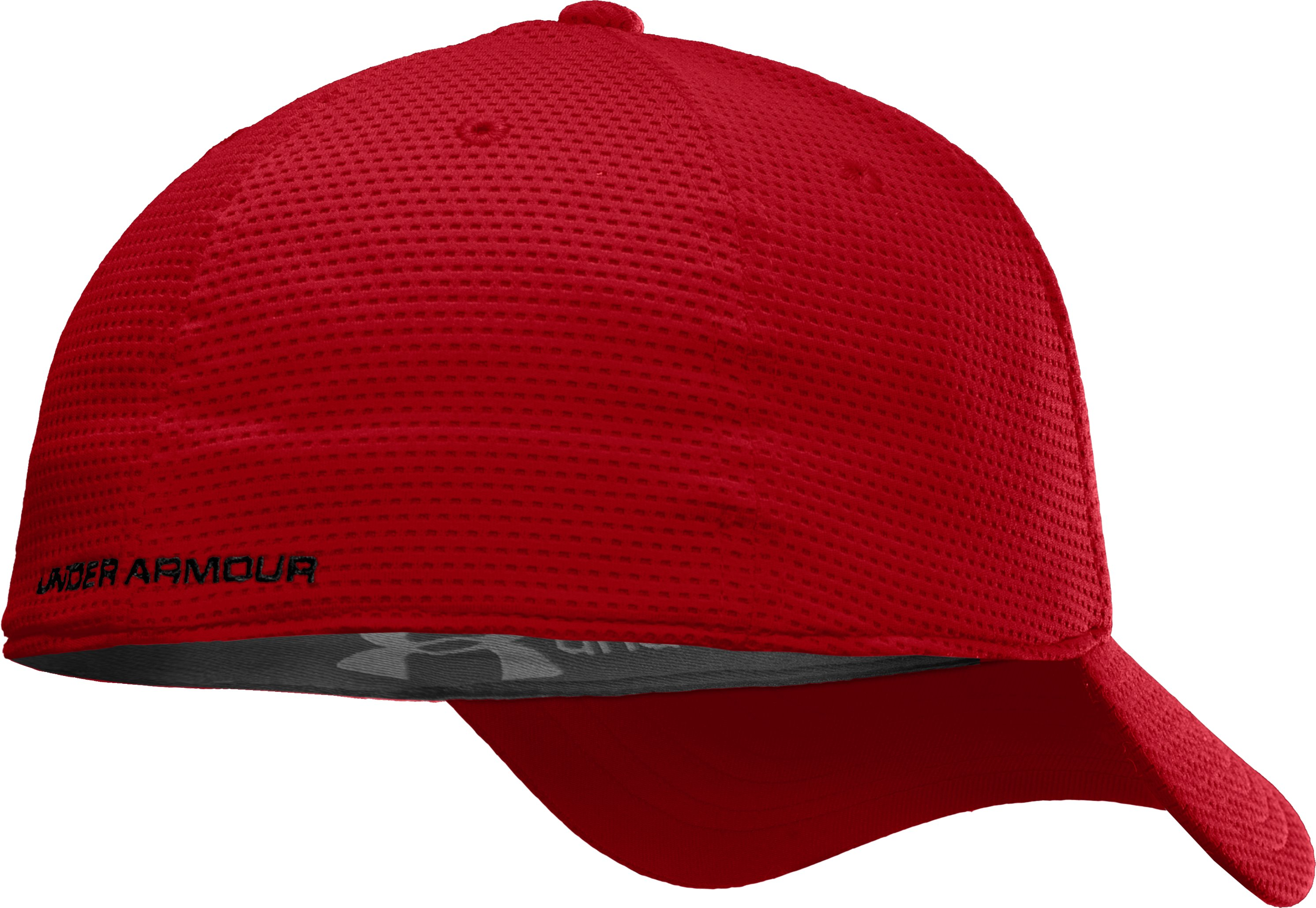 Men's UA Blitzing Stretch Fit Cap, Red
