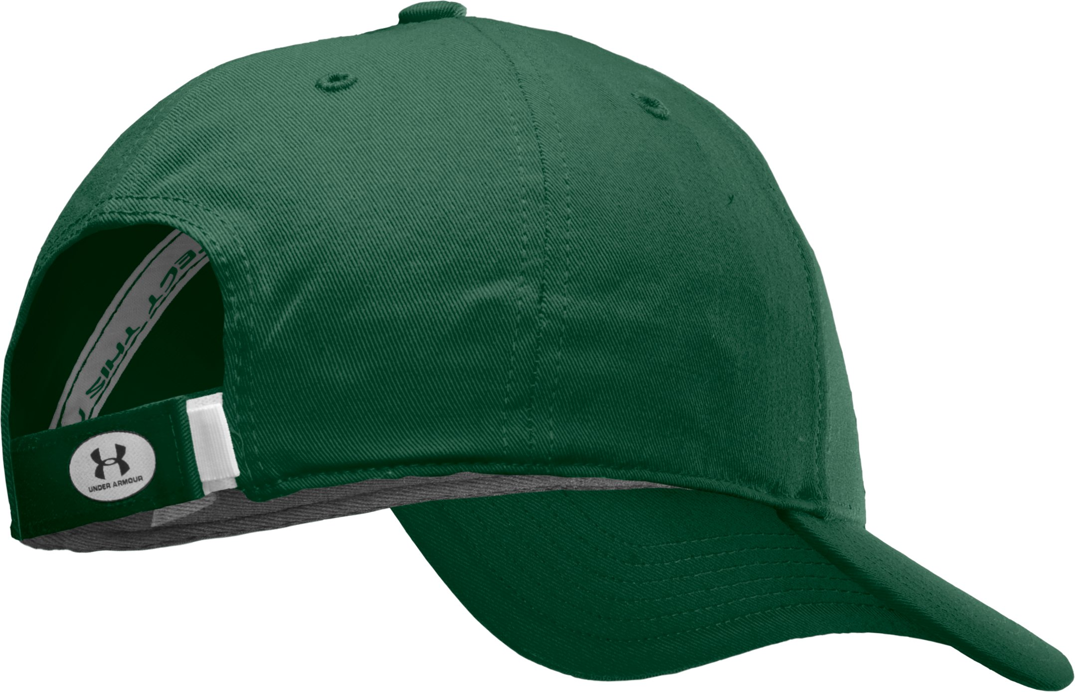 Men's Khalon UA Adjustable Cap, Forest Green