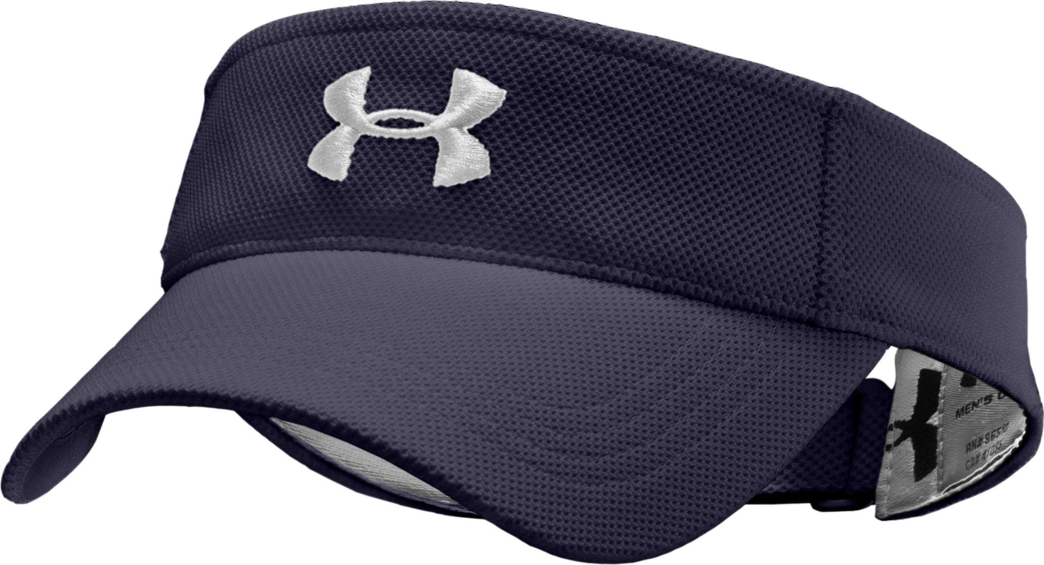 Men's UA Audible Adjustable Visor, Midnight Navy, zoomed image