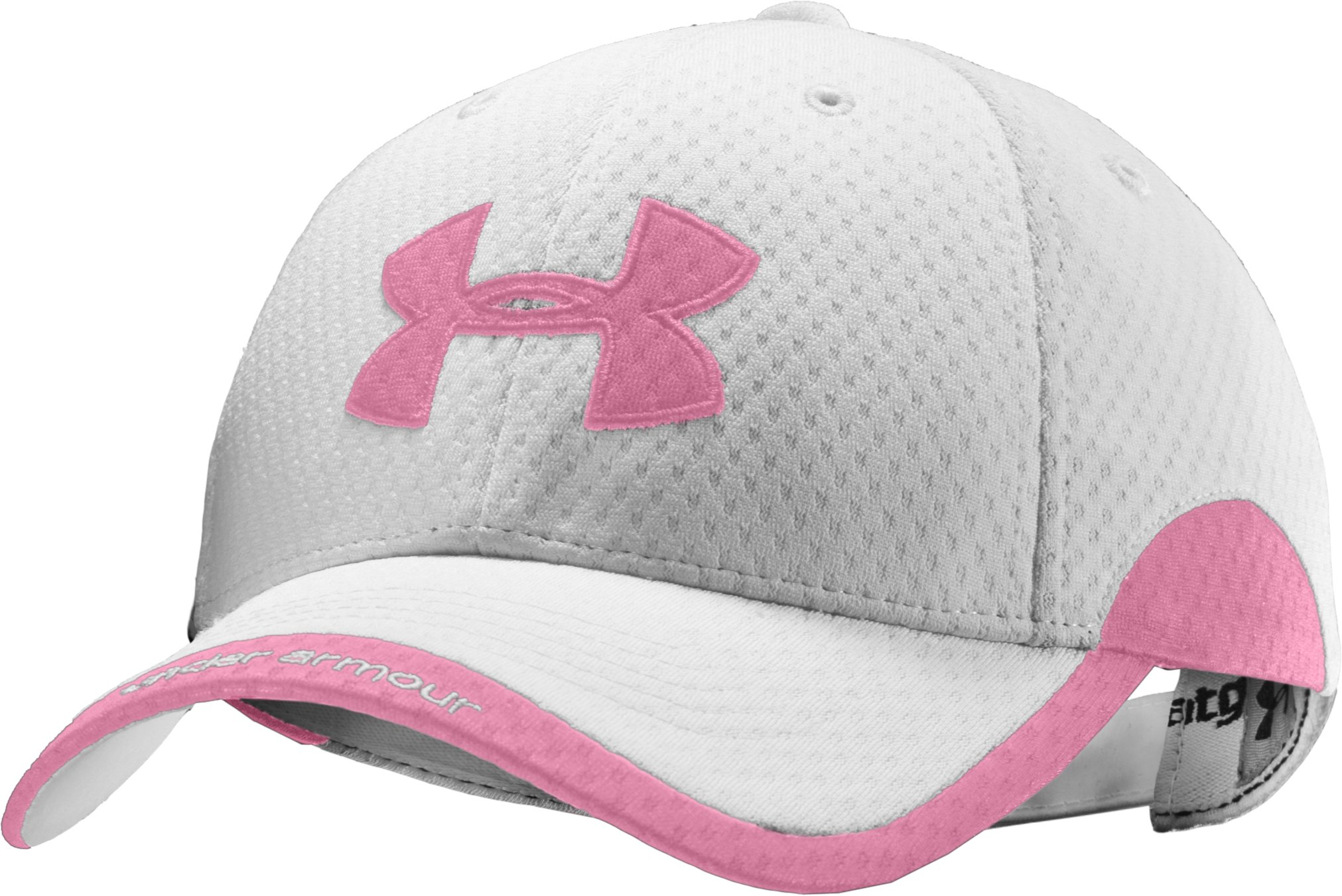 Women's UA Asteria Adjustable Cap, White, zoomed image