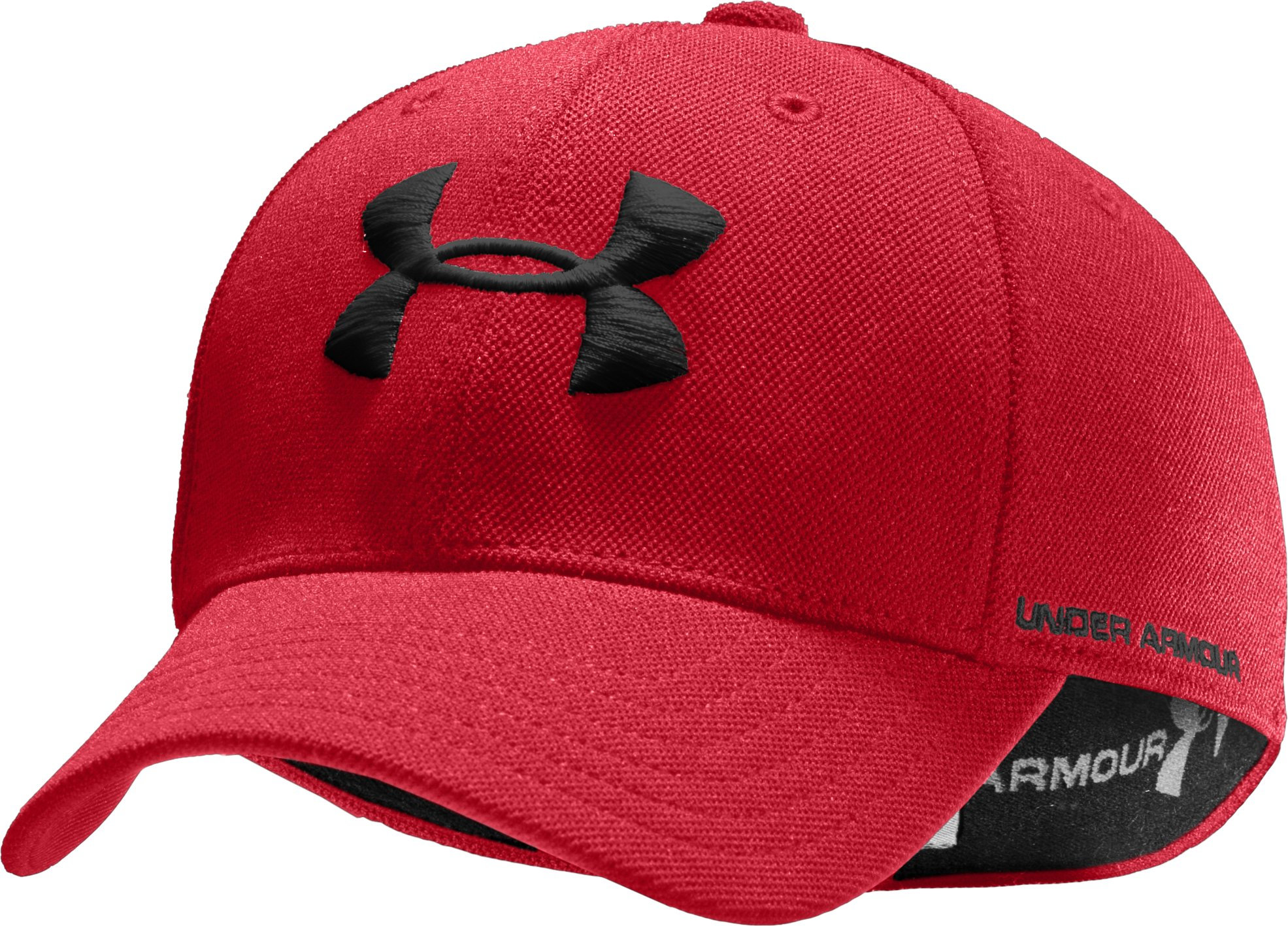 Boys' Armour® Stretch Fit Cap, Red