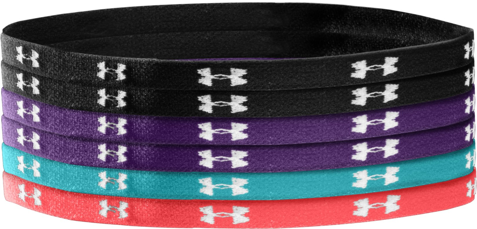 Women's UA Mini Headbands, Black , zoomed image