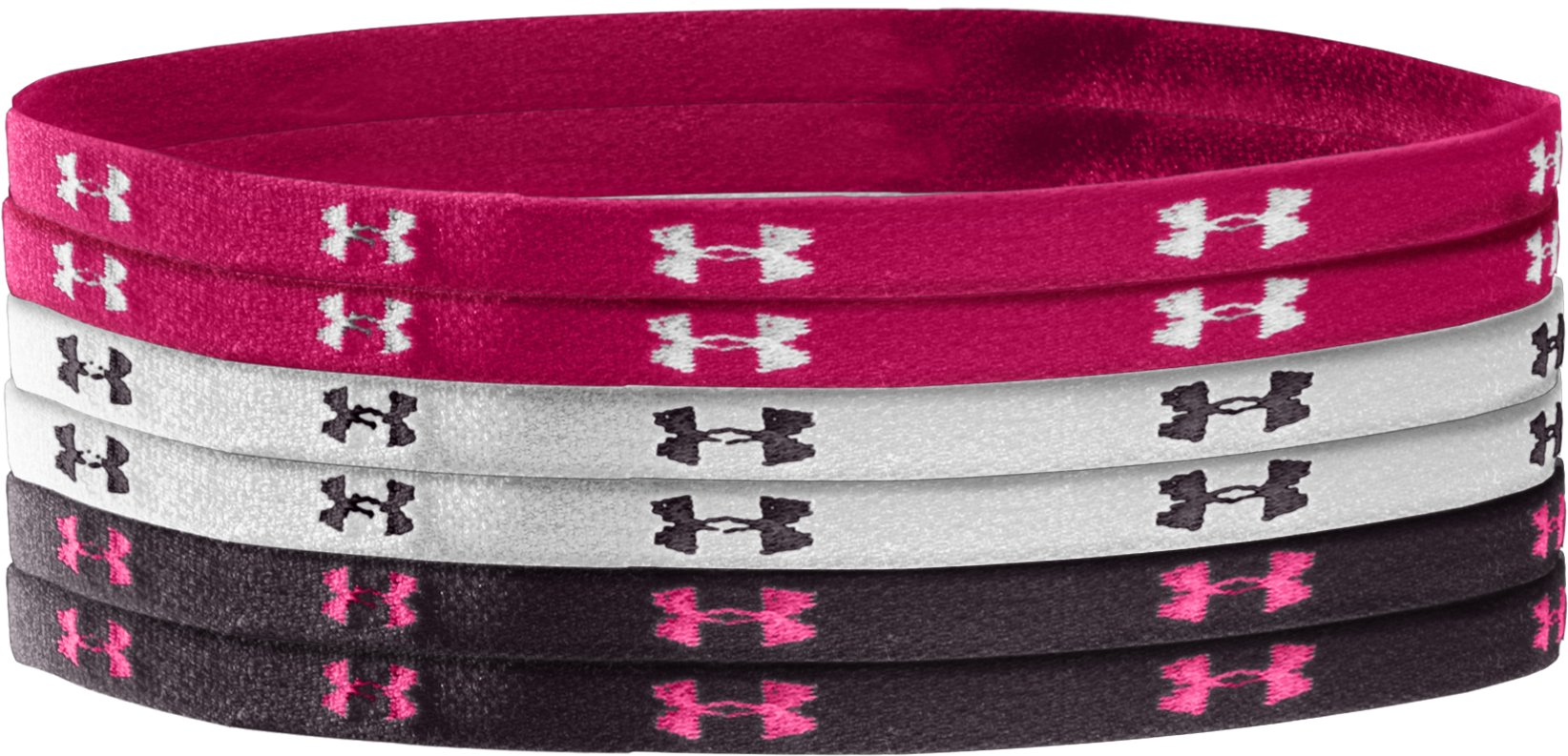 Women's UA Mini Headbands, Charcoal