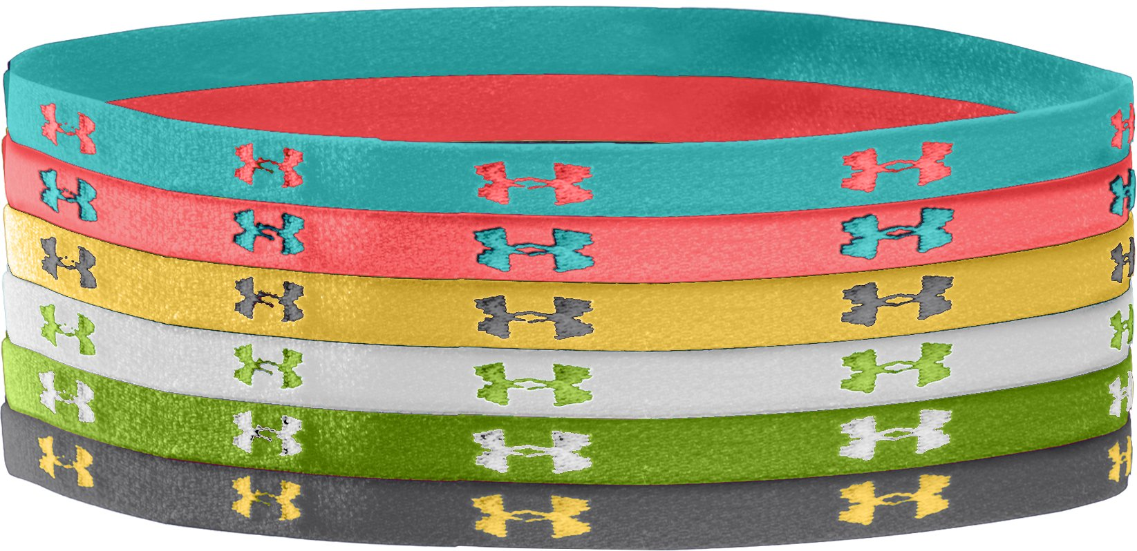 Women's UA Mini Headbands, TROPICAL TIDE