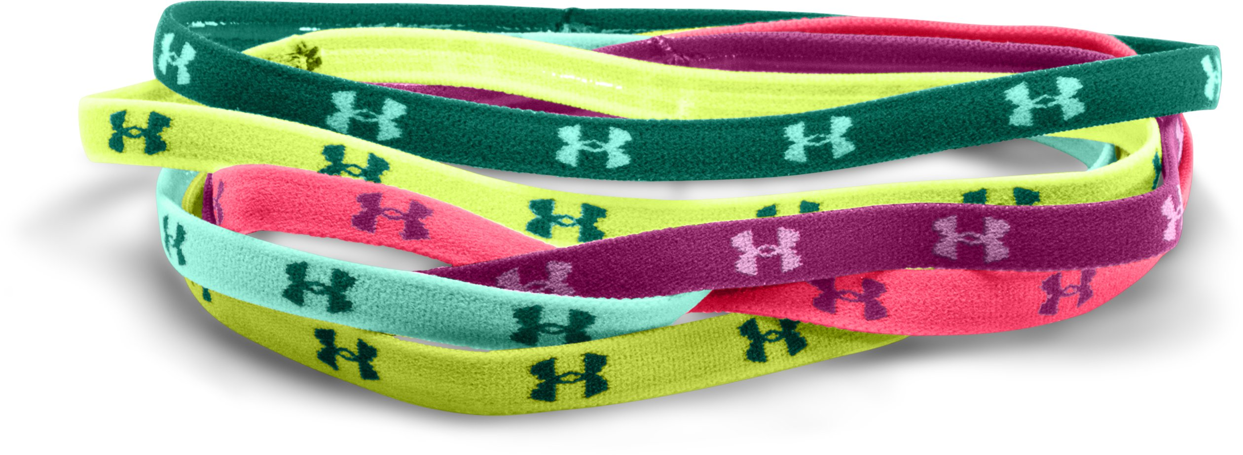 Women's UA Mini Headbands, PINK SHOCK