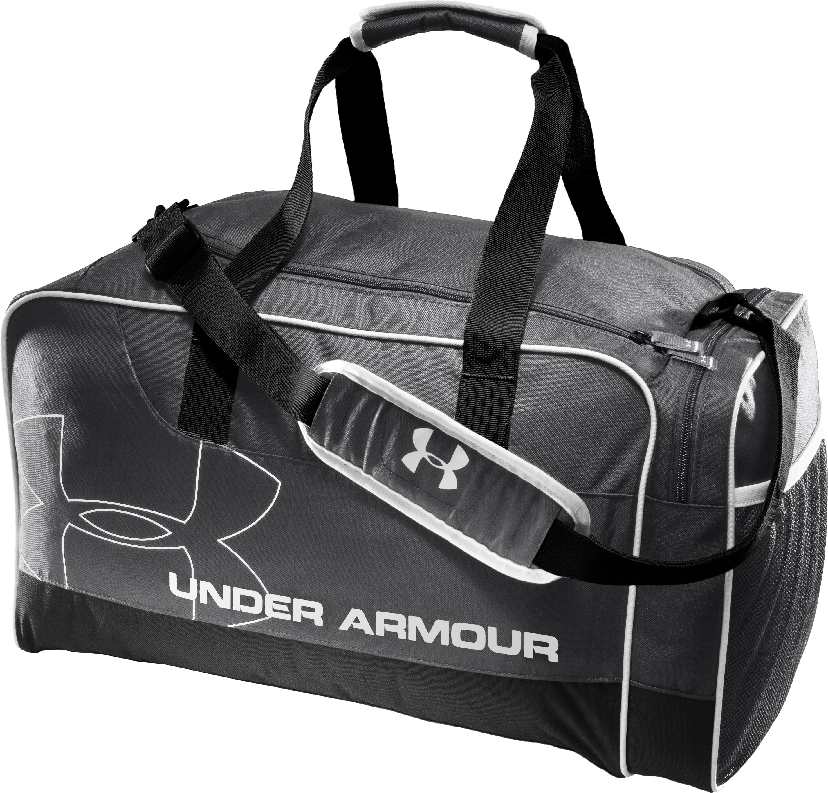 UA Dauntless Duffel Bag, Graphite, zoomed image