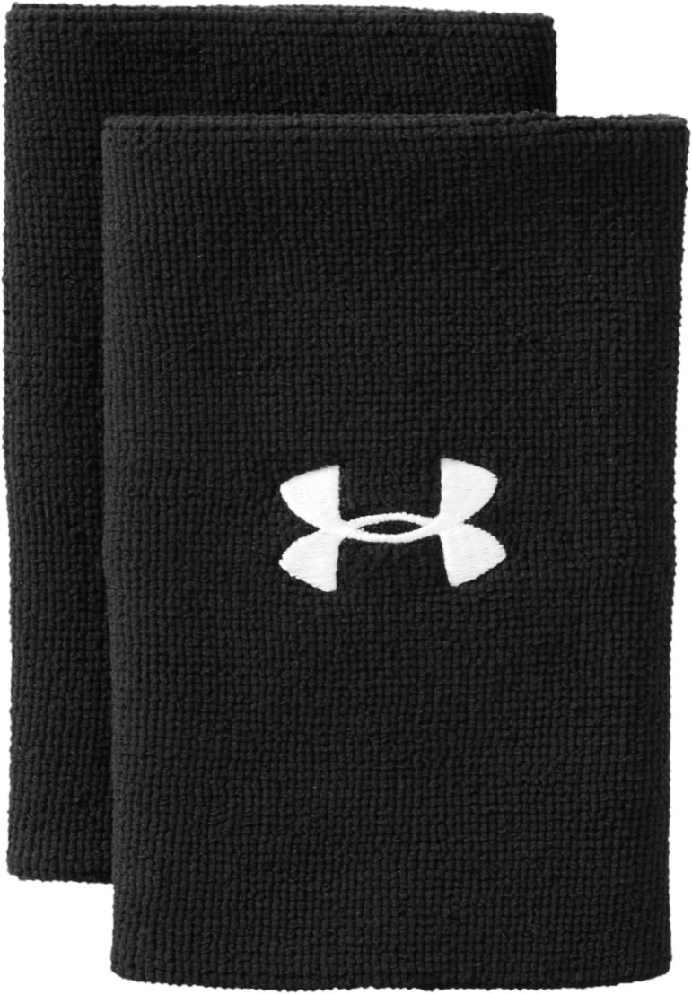 "6"" UA Performance Wristband, Black , zoomed image"