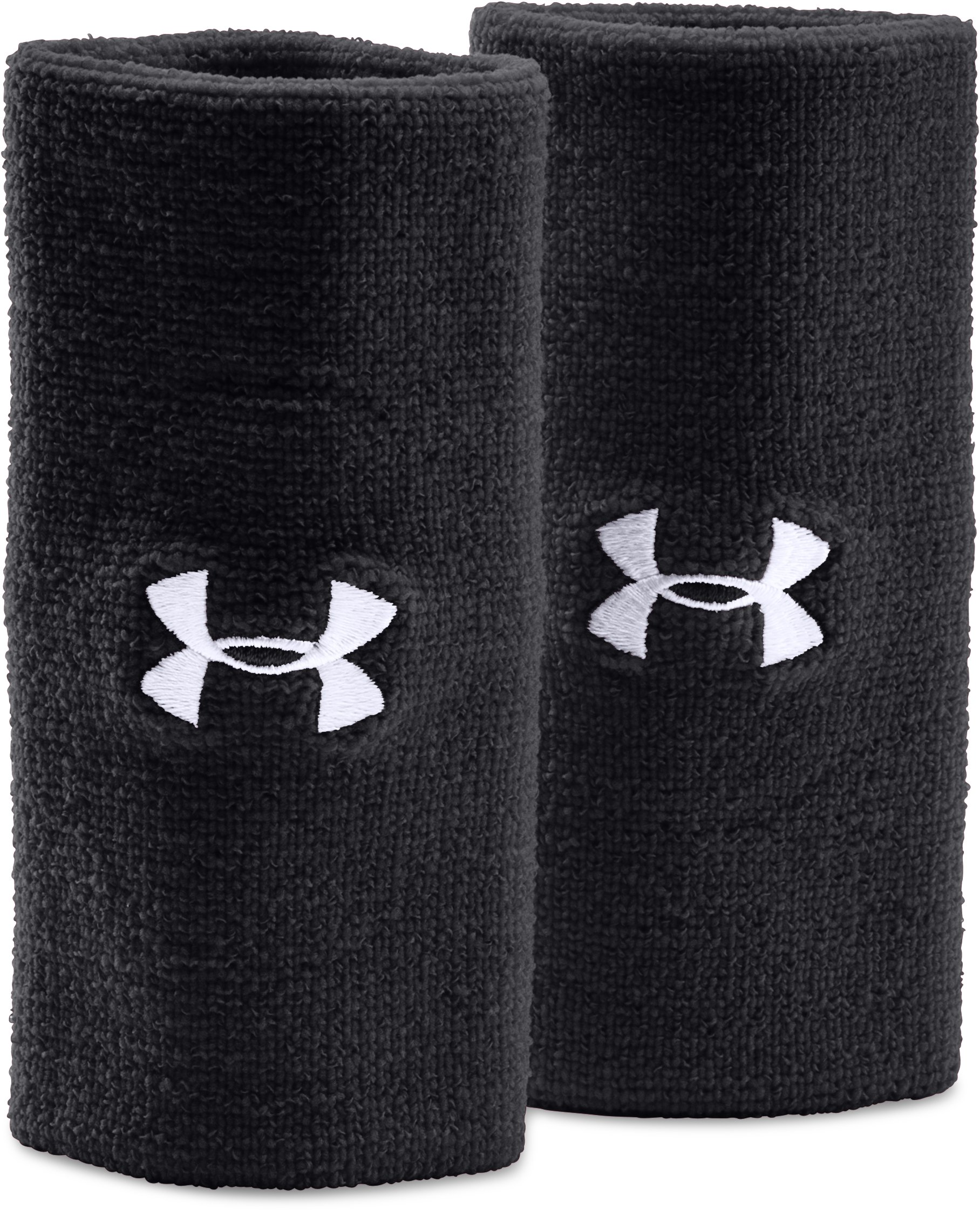 "6"" UA Performance Wristband 2-Pack, Black"
