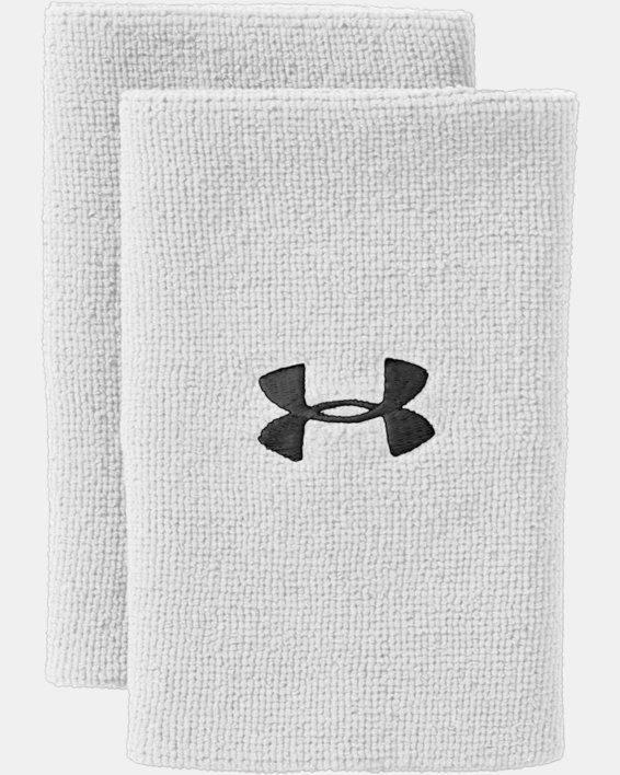 """6"""" UA Performance Wristband 2-Pack, White, pdpMainDesktop image number 3"""