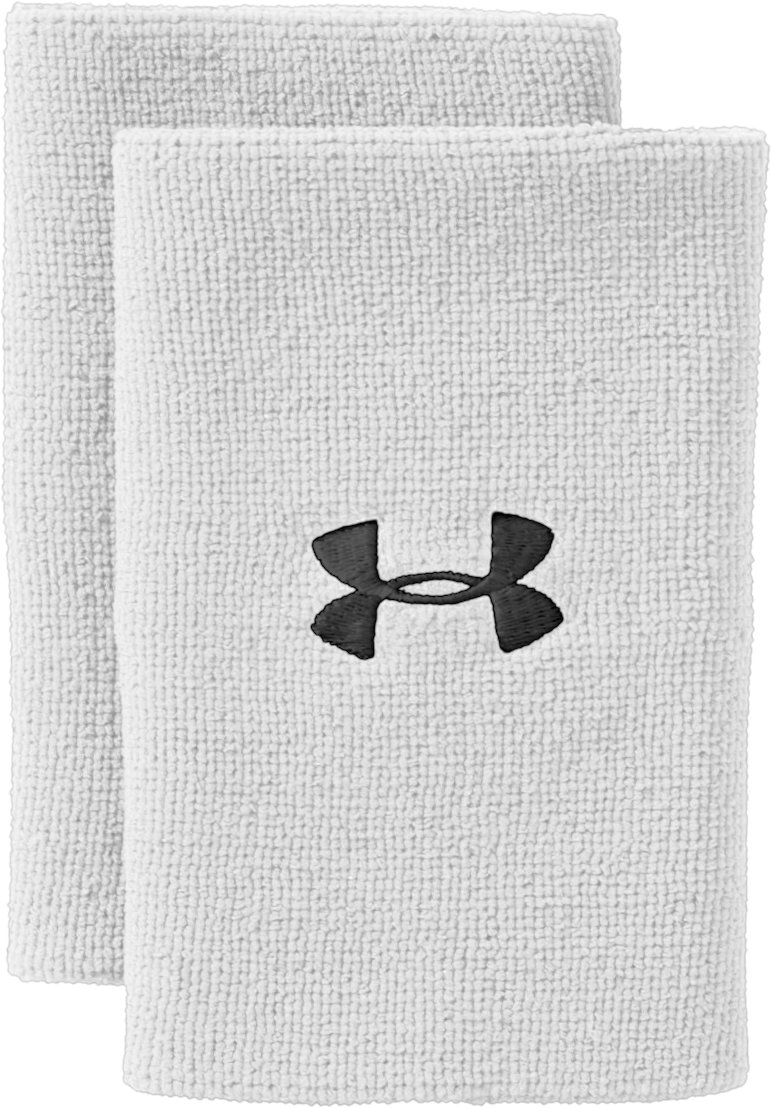 "6"" UA Performance Wristband, White"