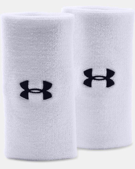 """6"""" UA Performance Wristband 2-Pack, White, pdpMainDesktop image number 0"""