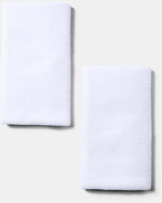 """6"""" UA Performance Wristband 2-Pack, White, pdpMainDesktop image number 2"""