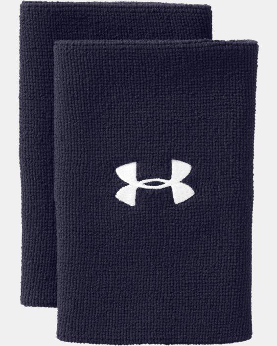 """6"""" UA Performance Wristband 2-Pack, Navy, pdpMainDesktop image number 3"""