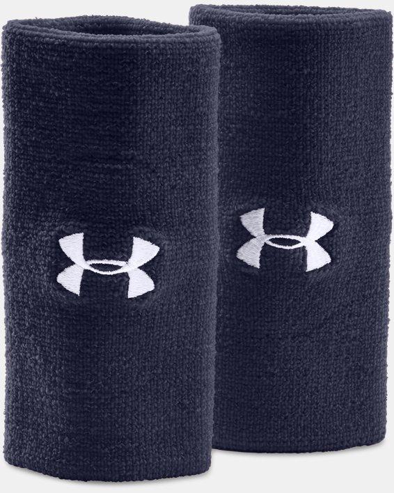 """6"""" UA Performance Wristband 2-Pack, Navy, pdpMainDesktop image number 0"""