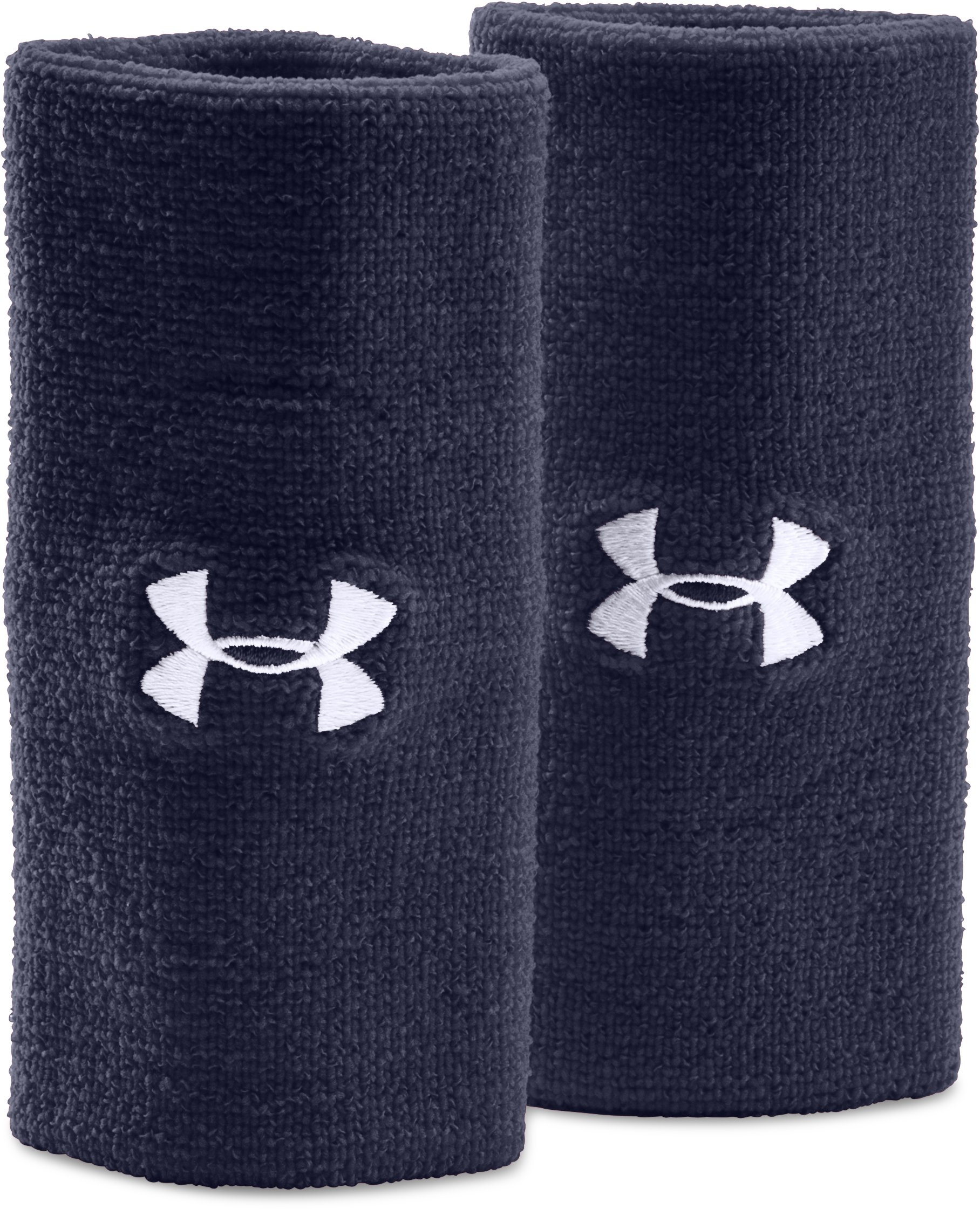 "6"" UA Performance Wristband 2-Pack, Midnight Navy"