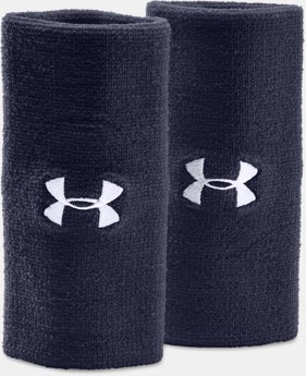 "Best Seller 6"" UA Performance Wristband 2-Pack  2 Colors $8.99"