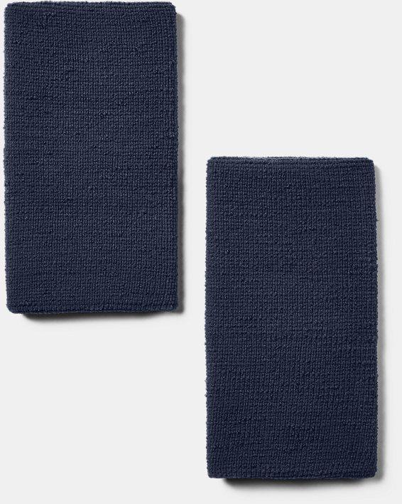 """6"""" UA Performance Wristband 2-Pack, Navy, pdpMainDesktop image number 2"""