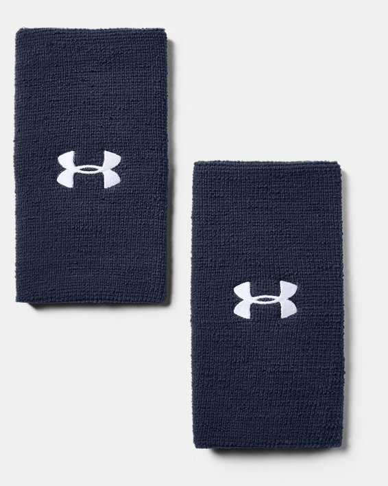 """6"""" UA Performance Wristband 2-Pack, Navy, pdpMainDesktop image number 1"""