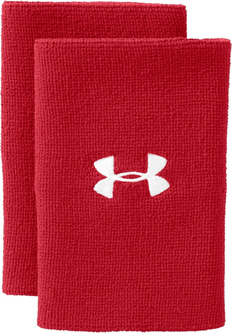 "6"" UA Performance Wristband, Red, zoomed image"