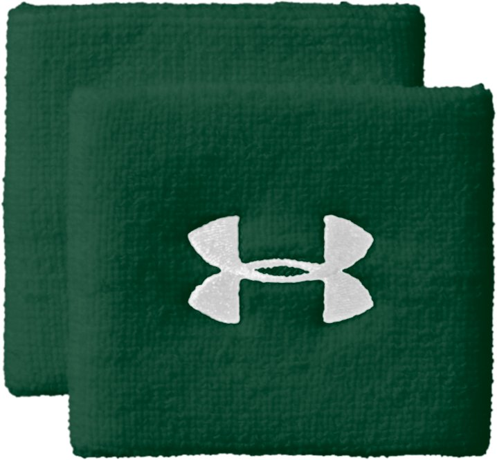"3"" UA Performance Wristband, Forest Green,"