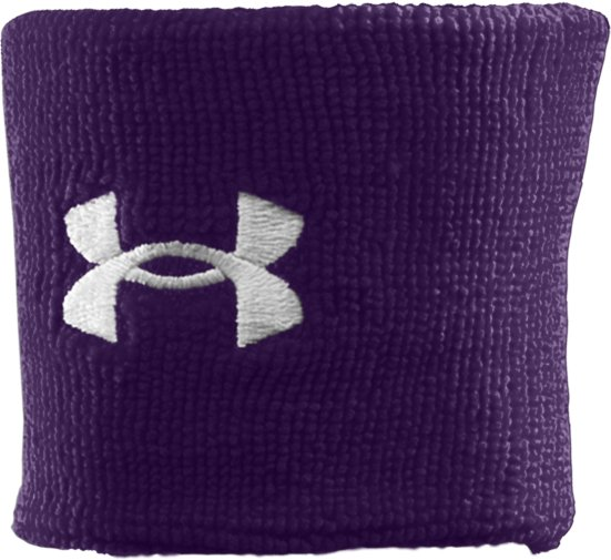 "3"" UA Performance Wristband, Purple, zoomed image"