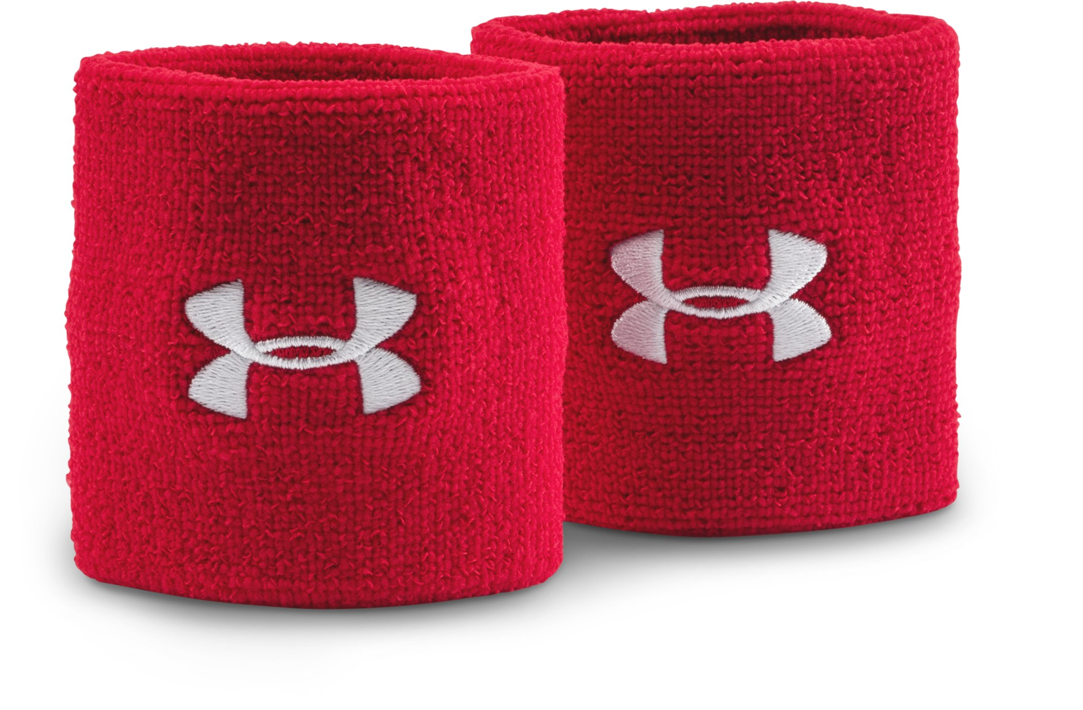 "3"" UA Performance Wristband, Red, zoomed image"