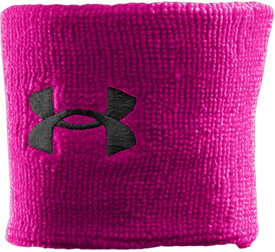 "3"" UA Performance Wristband, Tropic Pink, zoomed image"