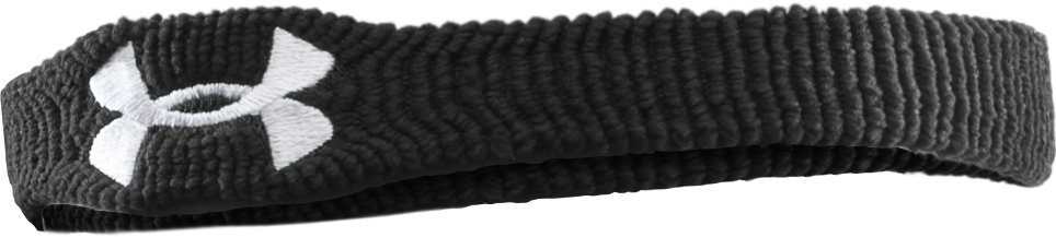"1"" UA Performance Wristband, Black , zoomed image"