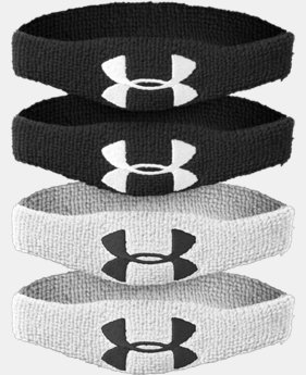 "½"" UA Oversized Performance Wristband 4-Pack  1 Color $7.99"