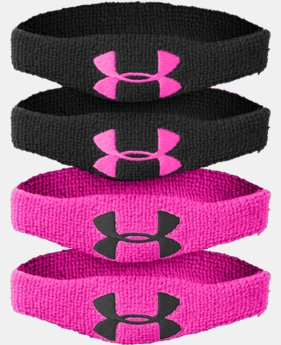 "½"" UA Oversized Performance Wristband 4-Pack"