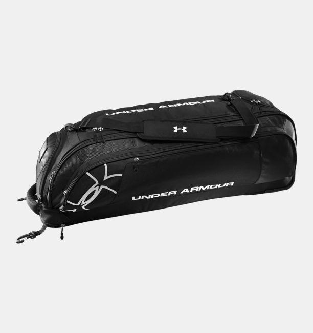 Leadoff Wheeled Baseball Bat Bag Black