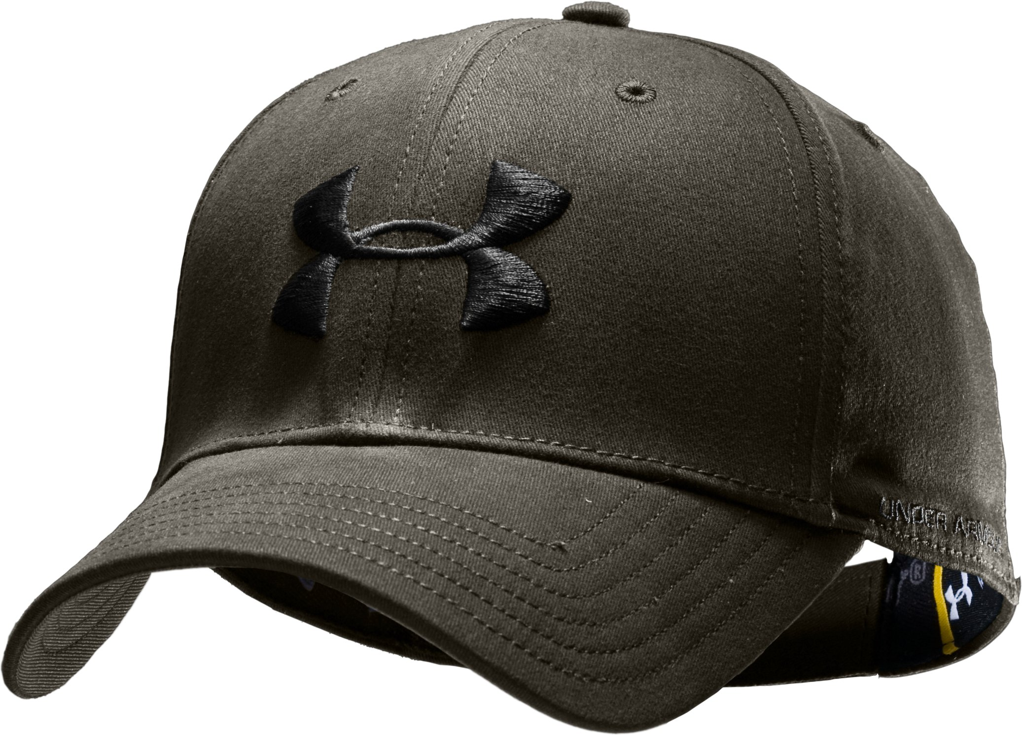 Men's UA Ascent Adjustable Cap, Rifle Green, zoomed image