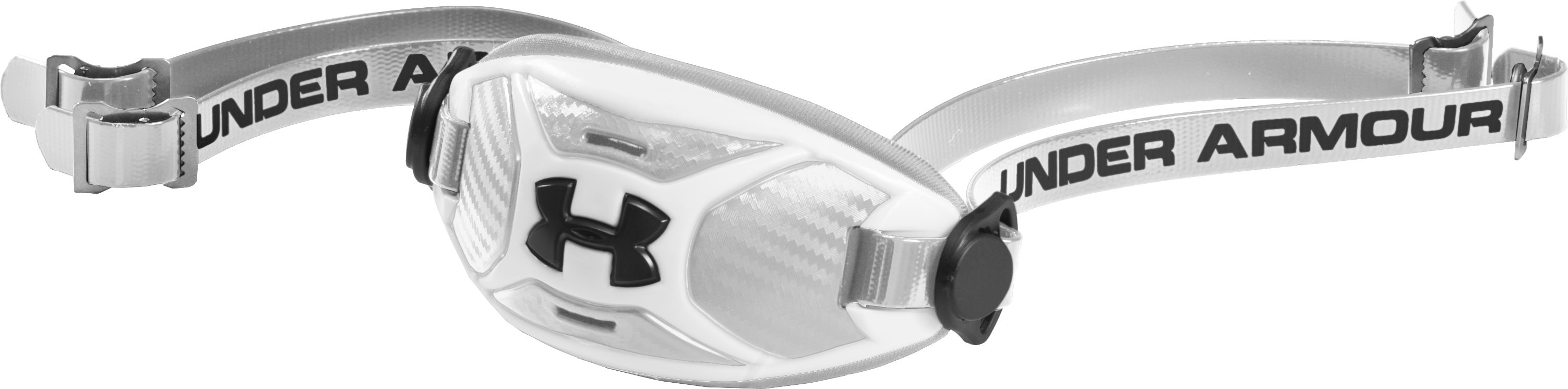 Men's ArmourFuse® Chin Strap, White, zoomed image