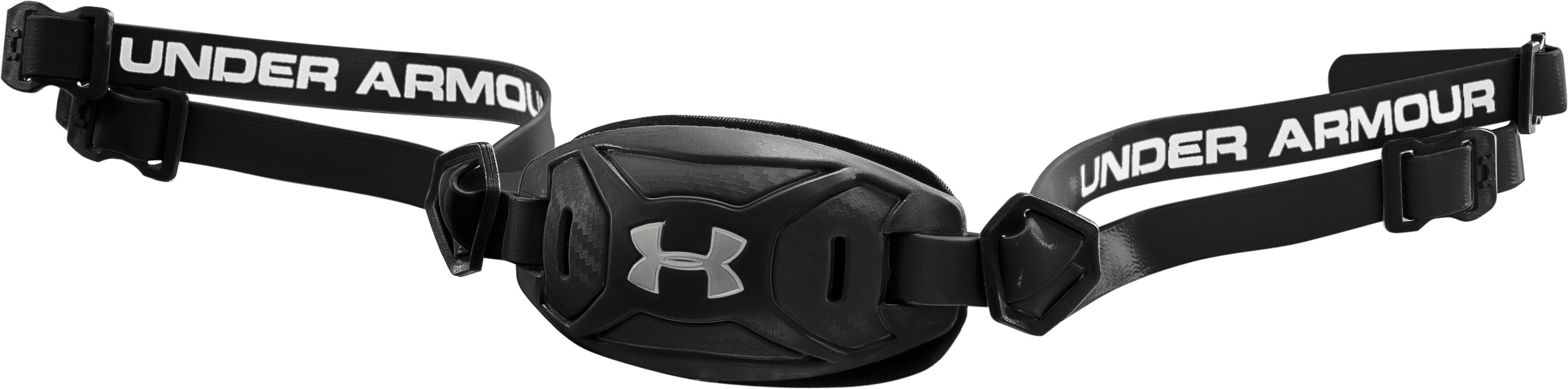 Boys' UA ArmourFuse® Chin Strap, Black , zoomed image