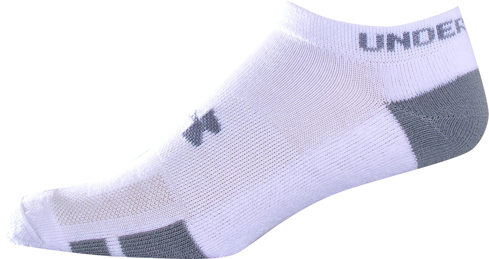 Men's Resistor No-Show Socks 6-Pack, White, zoomed image