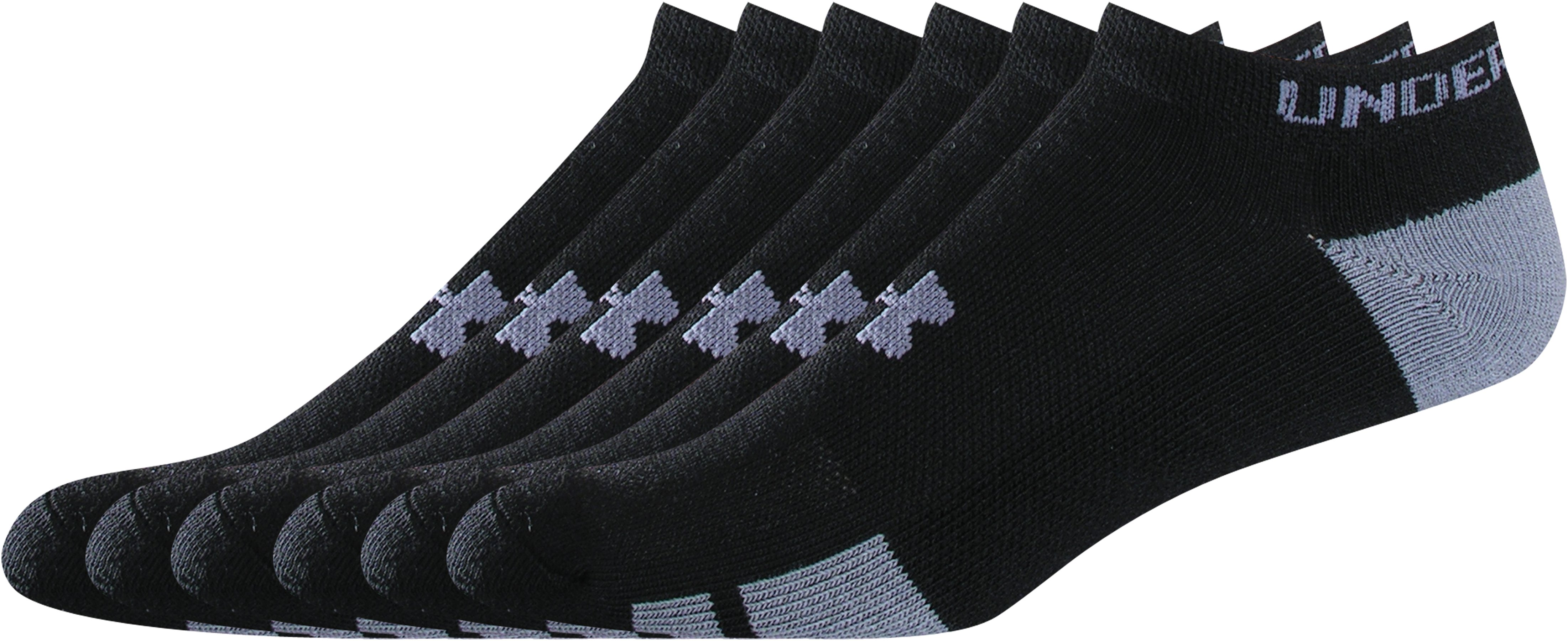 Kids' UA Resistor No Show Socks 6-Pack, Black , zoomed image