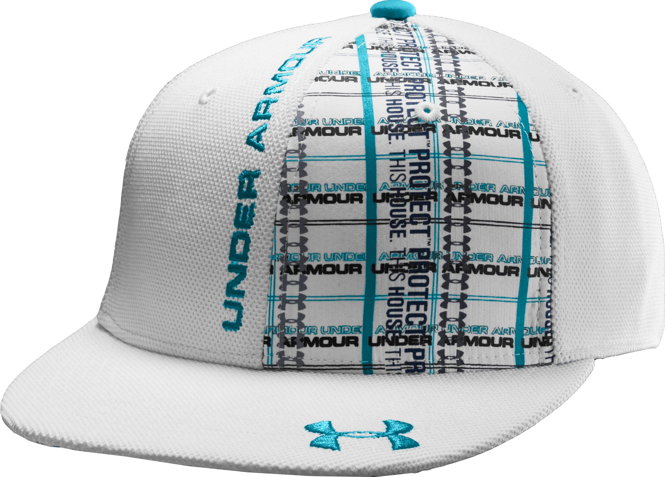 Men's Dougie Fitted Cap, White, zoomed image