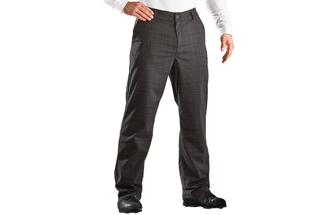 Men's Performance Plaid Golf Pants, Black , zoomed image