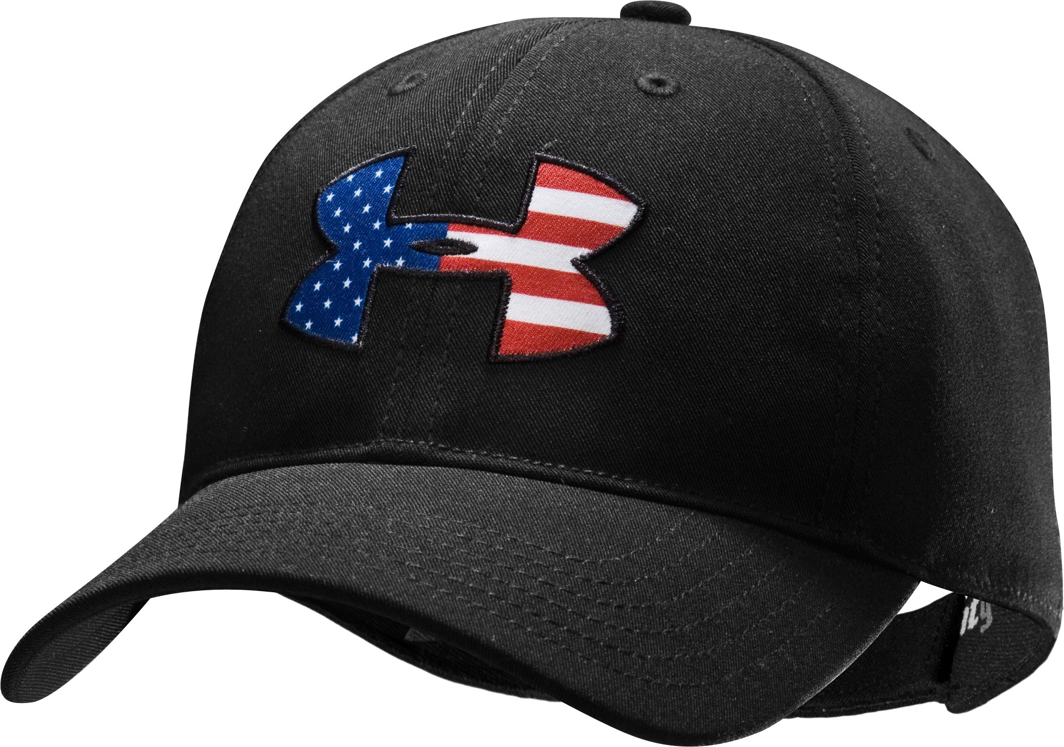 Men's Big Flag Logo Adjustable Cap, Black , undefined