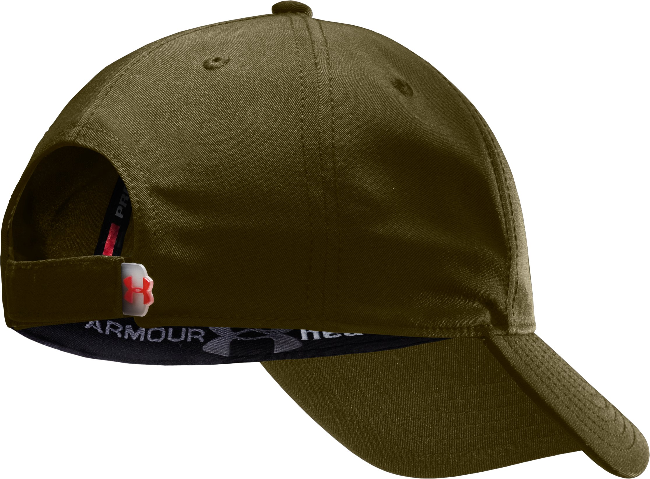 Men's Big Flag Logo Adjustable Cap, Marine OD Green