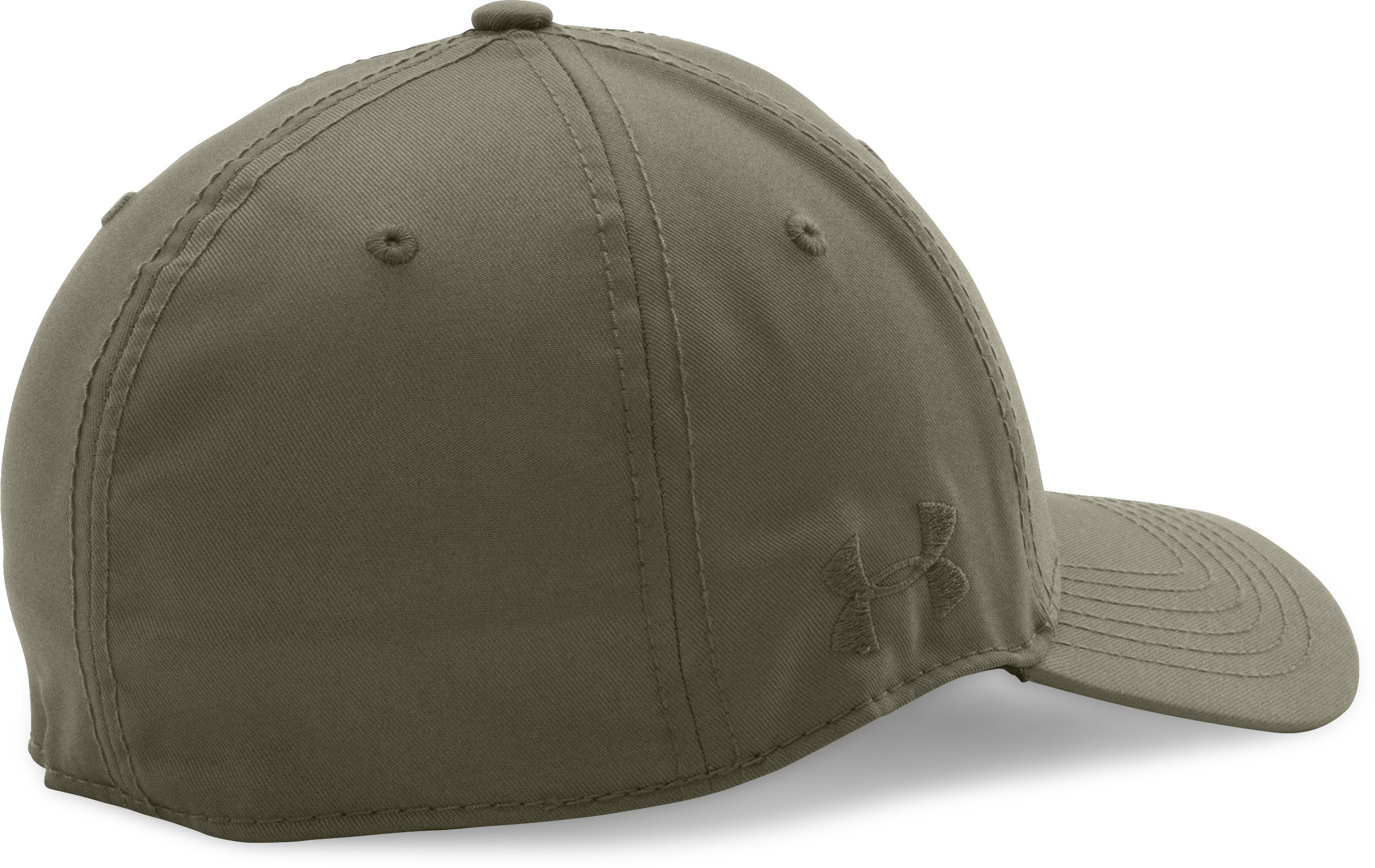 Men's UA Friend Or Foe Stretch Fit Cap, Marine OD Green