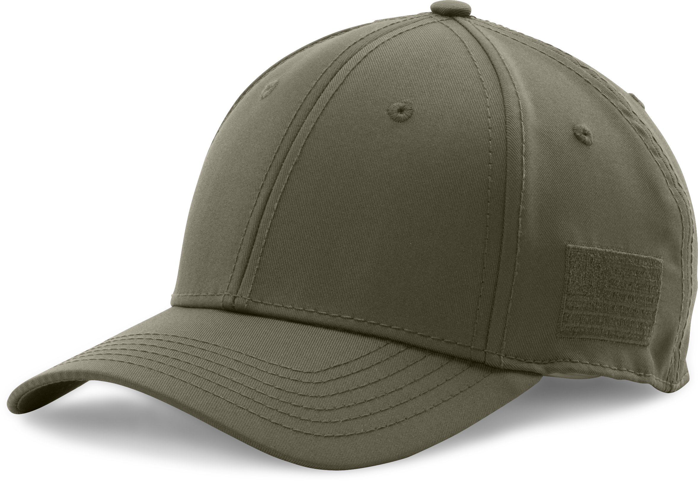 Men's UA Friend Or Foe Stretch Fit Cap, Marine OD Green, zoomed image