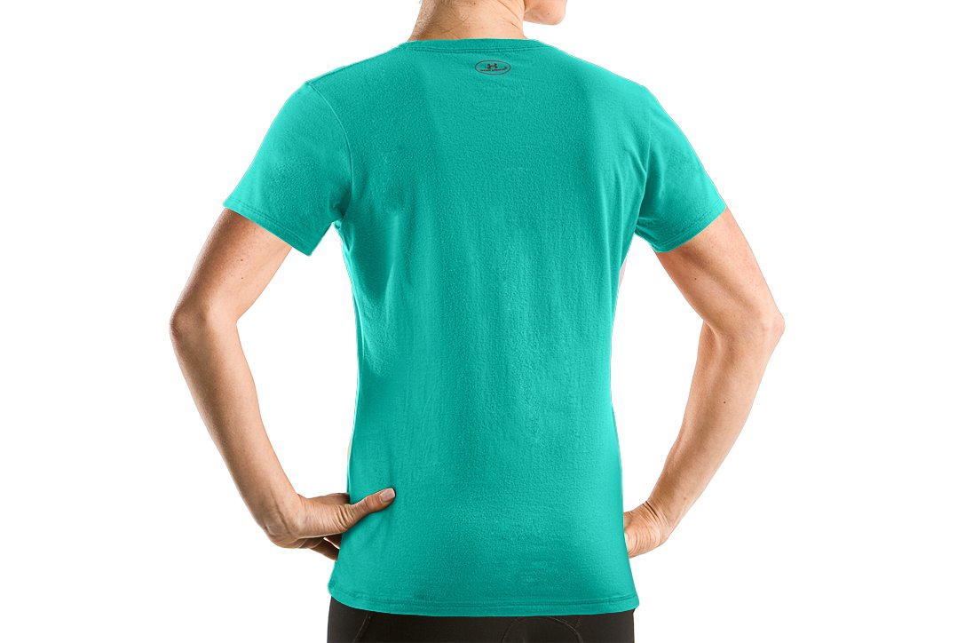 Women's UA Charged Cotton® Short Sleeve T-Shirt, Jade River