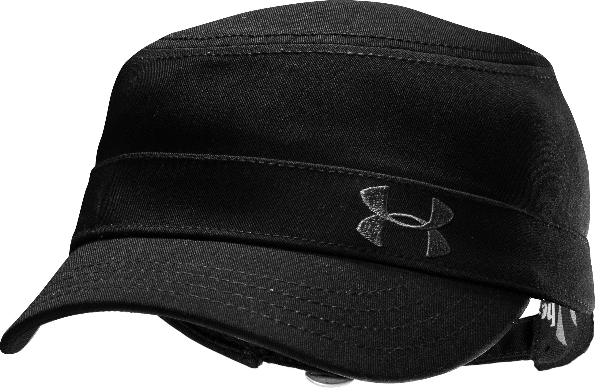 Women's Solid Versa Military Cap, Black