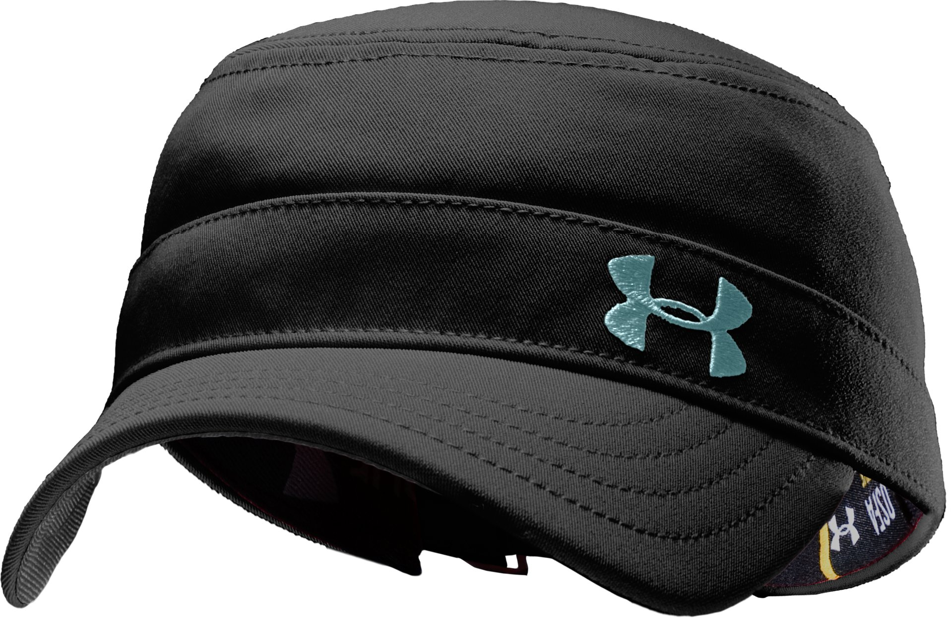Women's Solid Versa Military Cap, Black , zoomed image