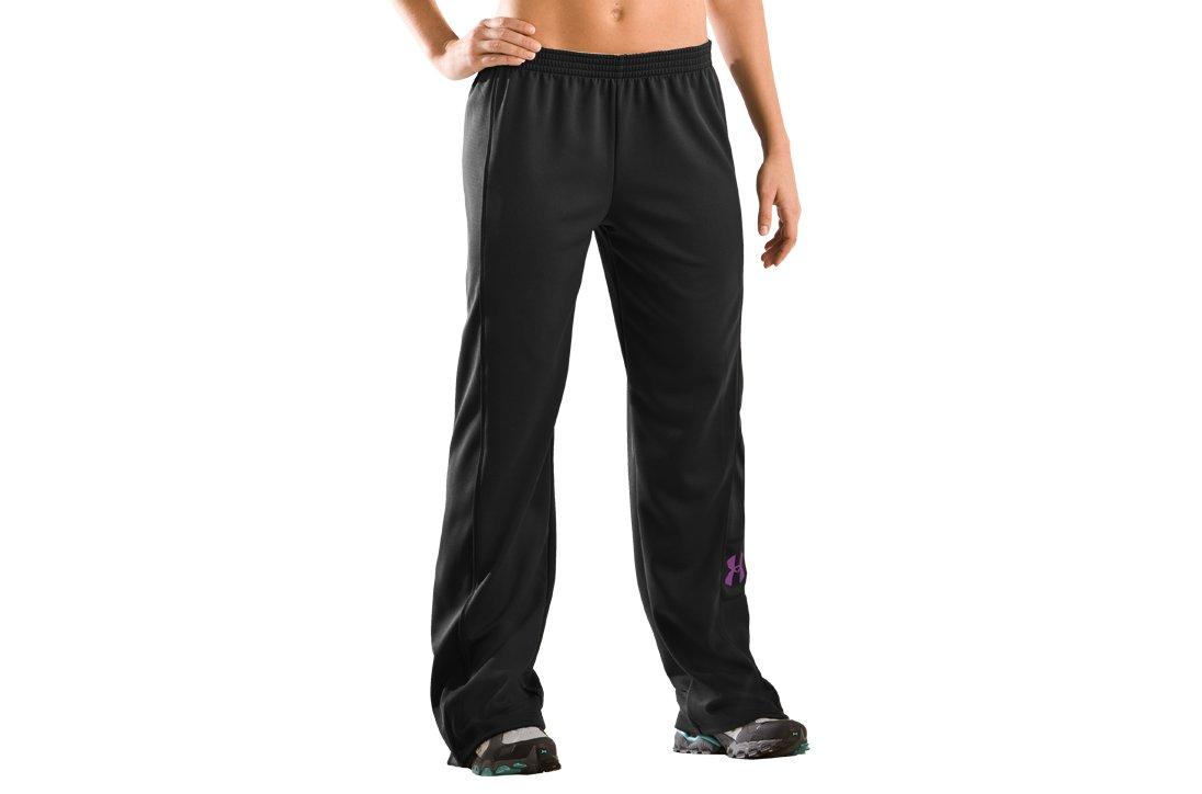 Women's UA Hero Warm-Up Pants, Black ,