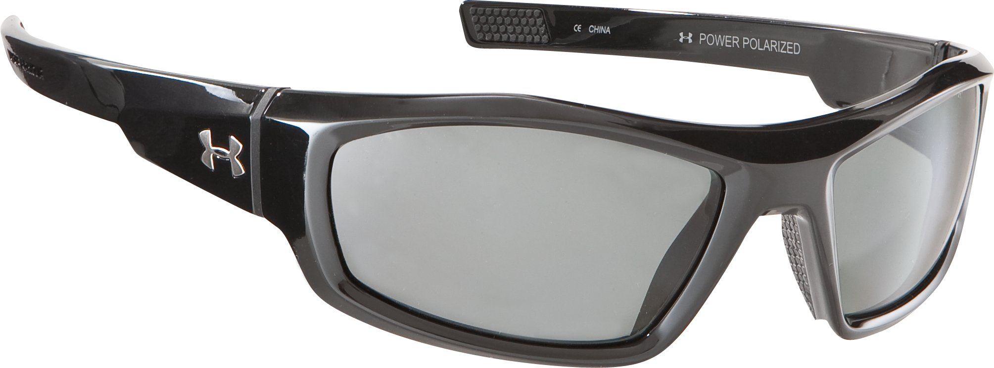 UA Power Polarized Multiflection™ Sunglasses, Shiny Black