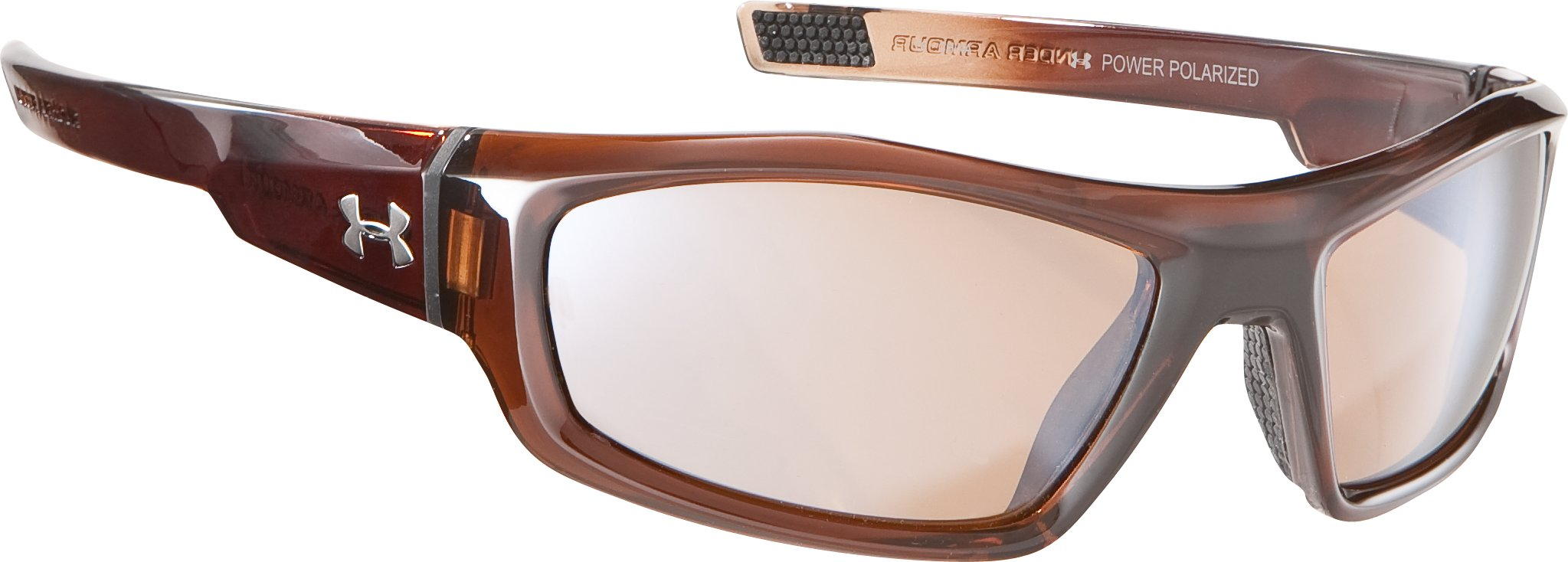 UA Power Polarized Multiflection™ Sunglasses, Shiny Crystal Cleveland Brown, zoomed image