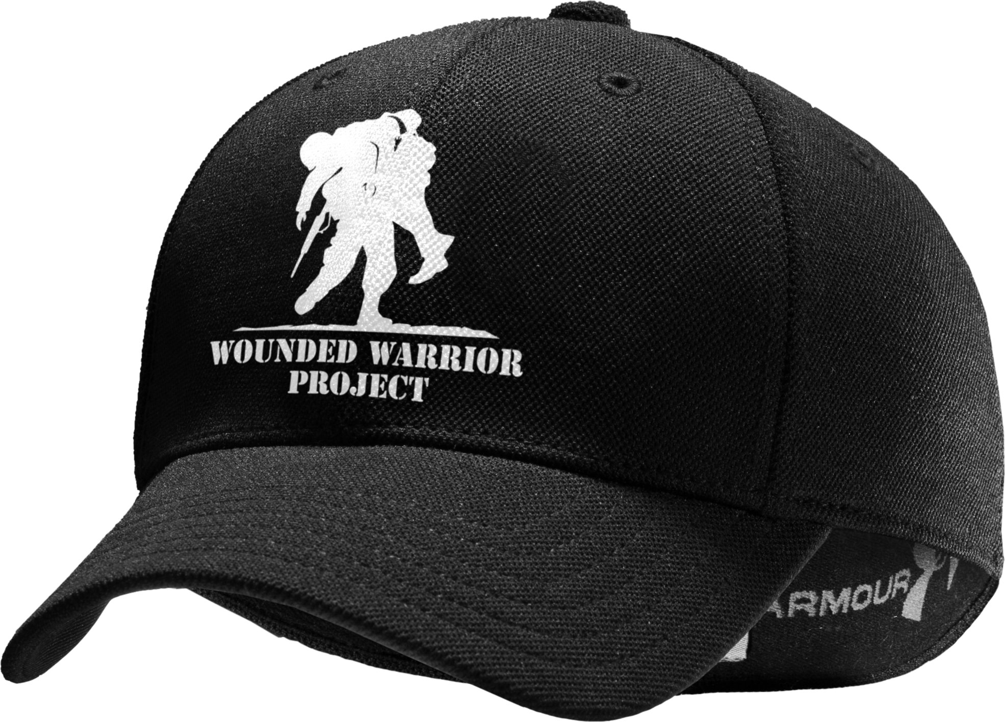 Men's WWP Stretch Fit Cap, Black , zoomed image